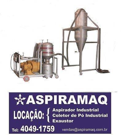 Locação de aspirador de pó industrial